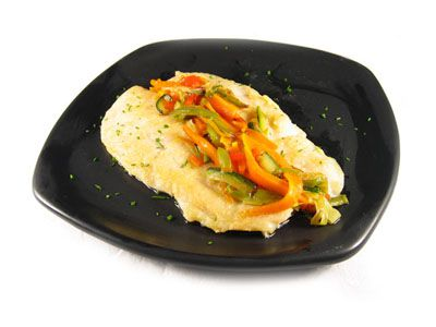 Mero a la plancha con verduras