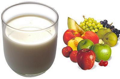 leche y fruta