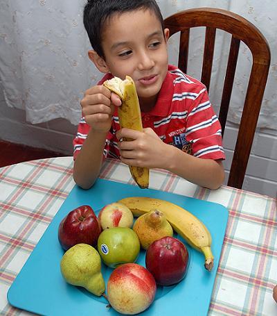 niño fruta