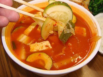 La sopa de Tofu ahumado es muy sabrosa