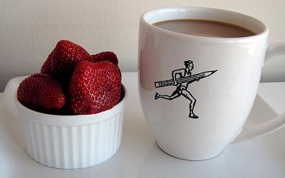 tentempie sano, leche y fruta